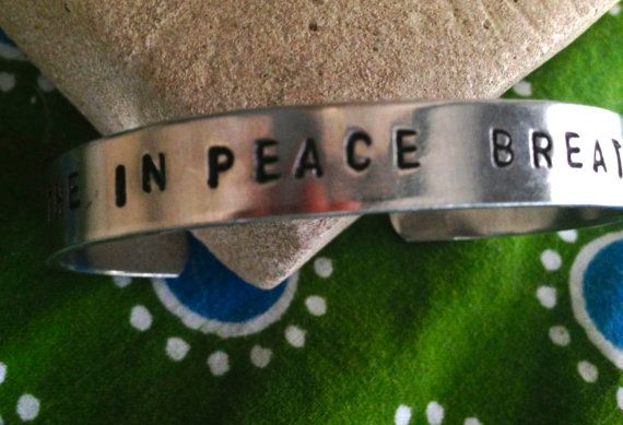 Breathe in Peace Breathe Out Love Yoga Bracelet by IndoLove, $18.00