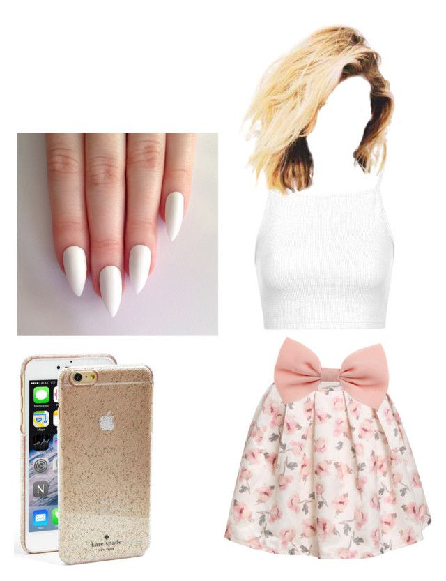 """Untitled #1"" by kayleyannelise ❤ liked on Polyvore featuring Topshop and Kate Spade"