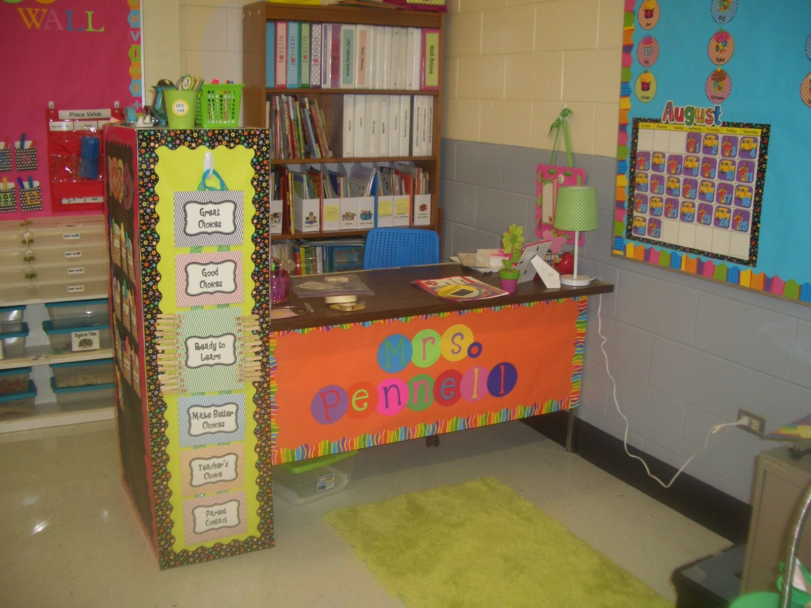 Teacher desk decorating ideas google search teachery - Classroom desk organization ideas ...
