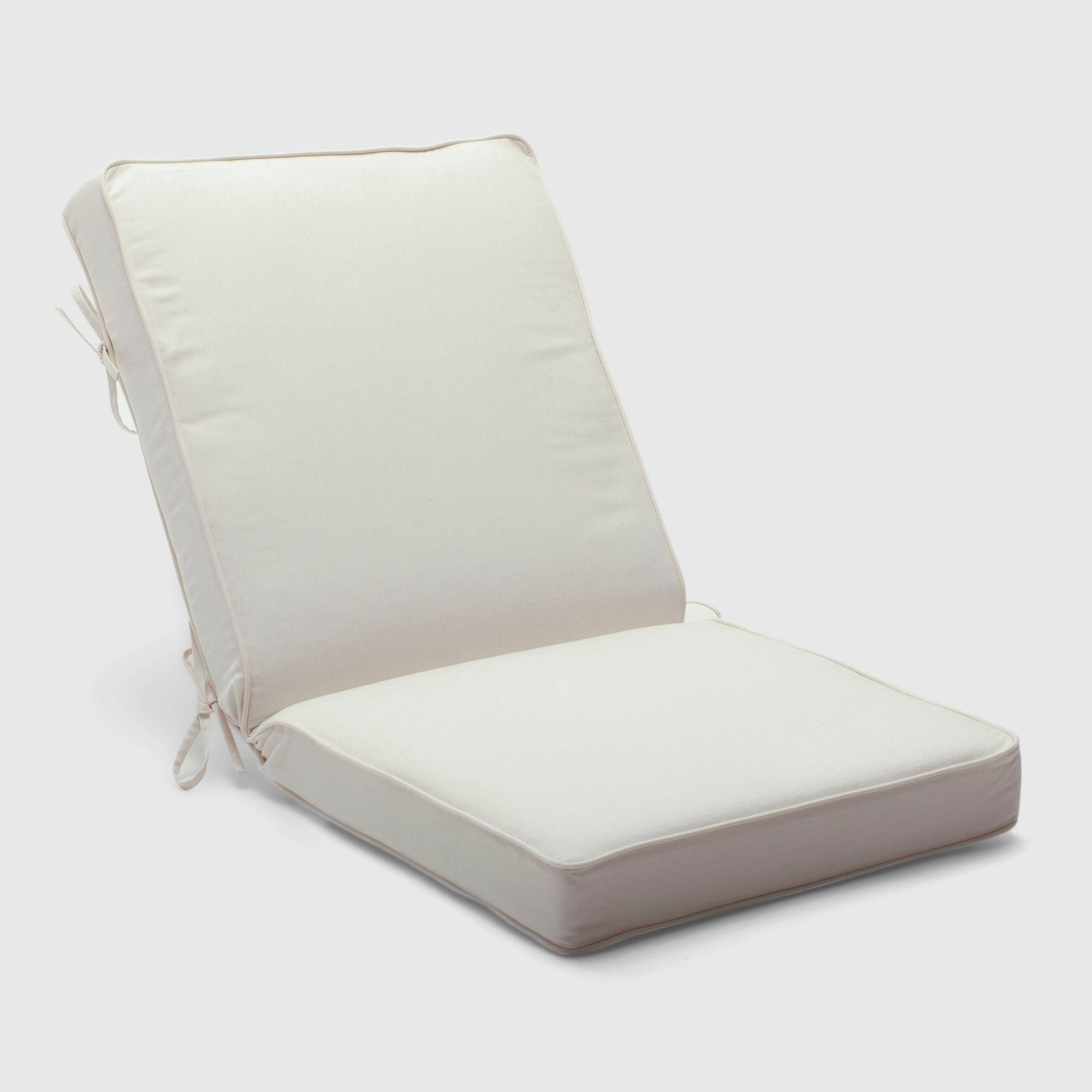 Eggshell Chair Outdoor Double Welt Chair Cushion Sunbrella Spectrum Eggshell
