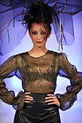 """"""" Femme Jolie """" par Andres Aquino au défilé Couture Fashion Week  #fashion #fashionweek #andresaquino #femmejolie #automne2014 #nyfashionweek #femme #robe #défilé #couture"""