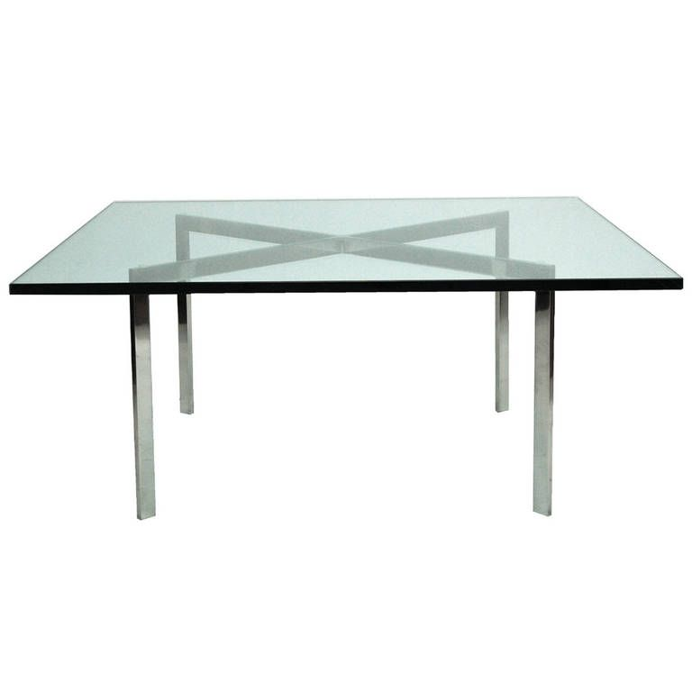 Early Barcelona Table By Mies Van Der Rohe Marked Kp Cl