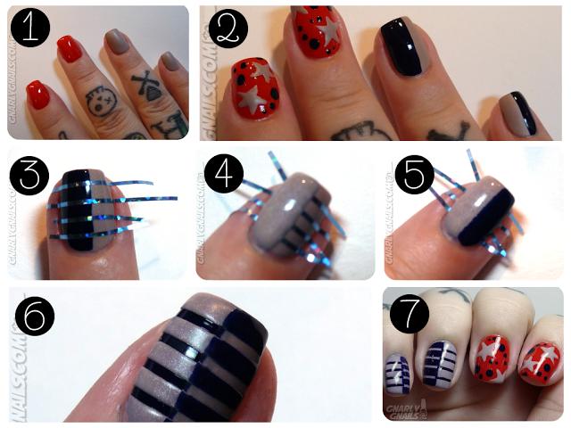 Nail designs step by step with tape nail arts nails nail designs step by step with tape nail arts stripe nail artnail prinsesfo Choice Image