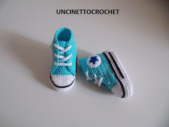 e4539b440b2 CONVERSE PATTERN All Star Baby crochet converse-newborn by ZarazaCrochet