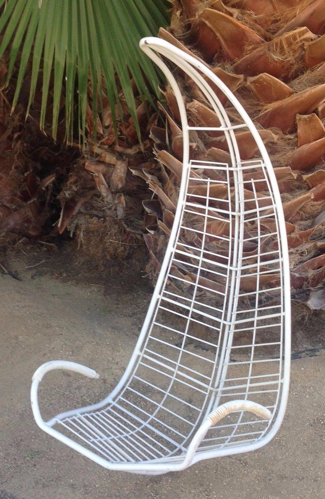 Vintage Mid Century Homecrest Indoor Outdoor Hanging Patio Chair Brown  Jordan