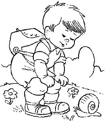 Transmissionpress Hiker And Snail Kids Coloring Pages Coloring