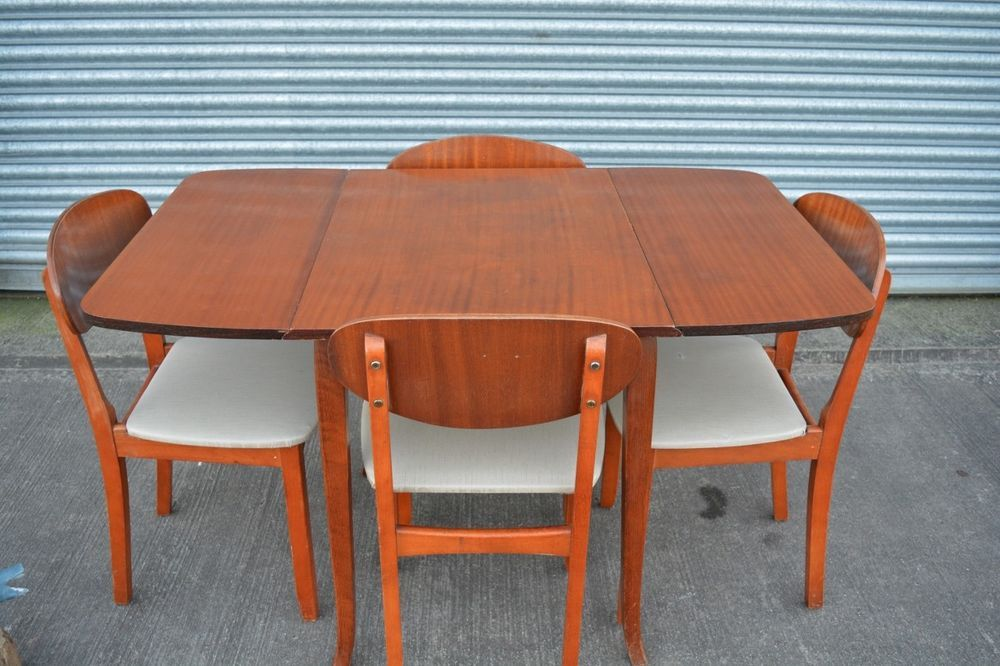 Vintage Retro Kitchen Dining Table and 4