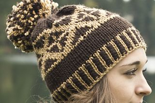caf0ba4582c Ravelry  Chunky Fair Isle Pom Pom Hat pattern by Tanis Gray
