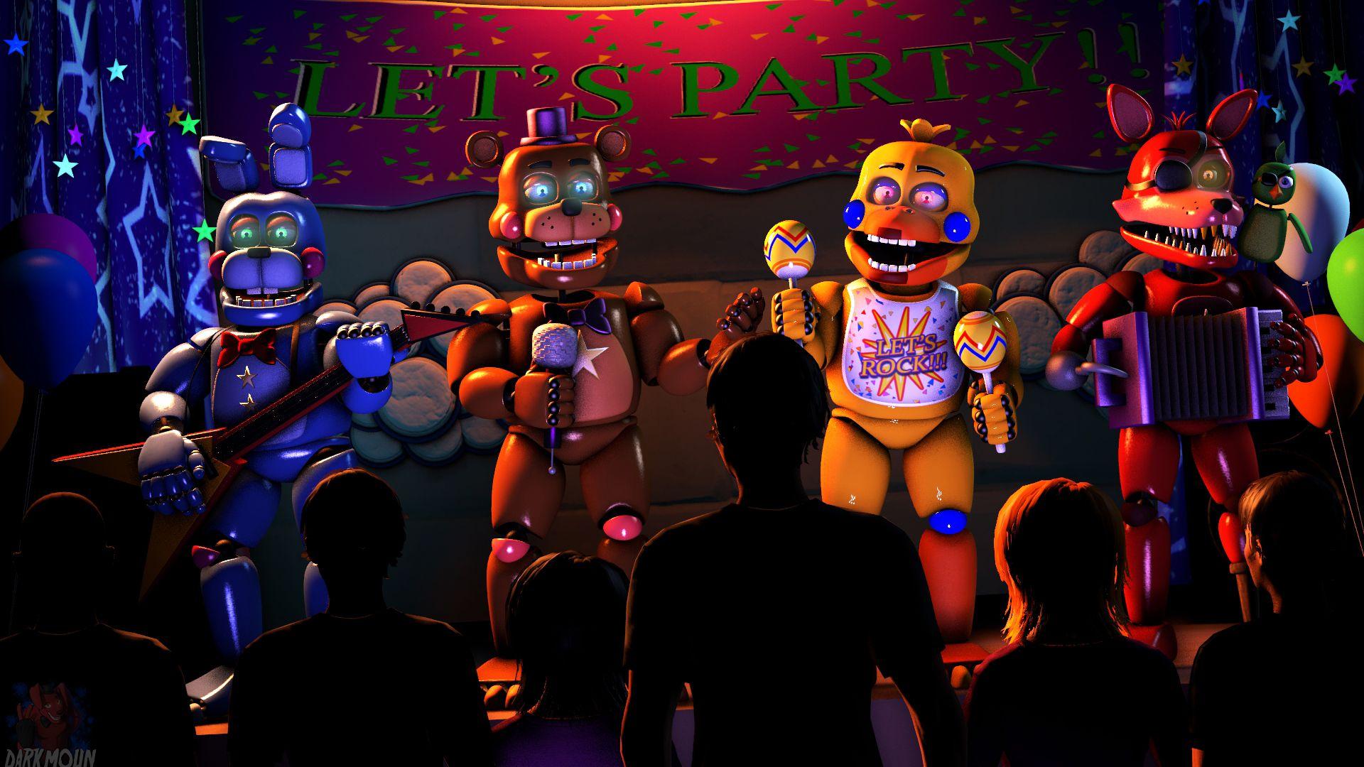 SFM Party with the Rockstars by Darkmoun Fnaf, Fnaf