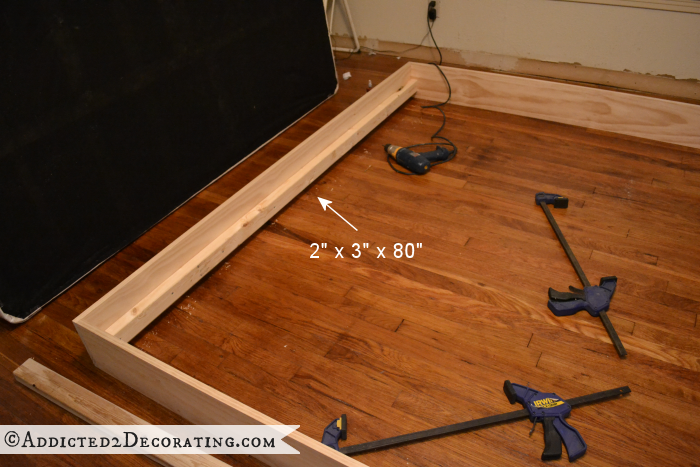 DIY Stained Wood Raised Platform Bed Frame Part 1 Diy