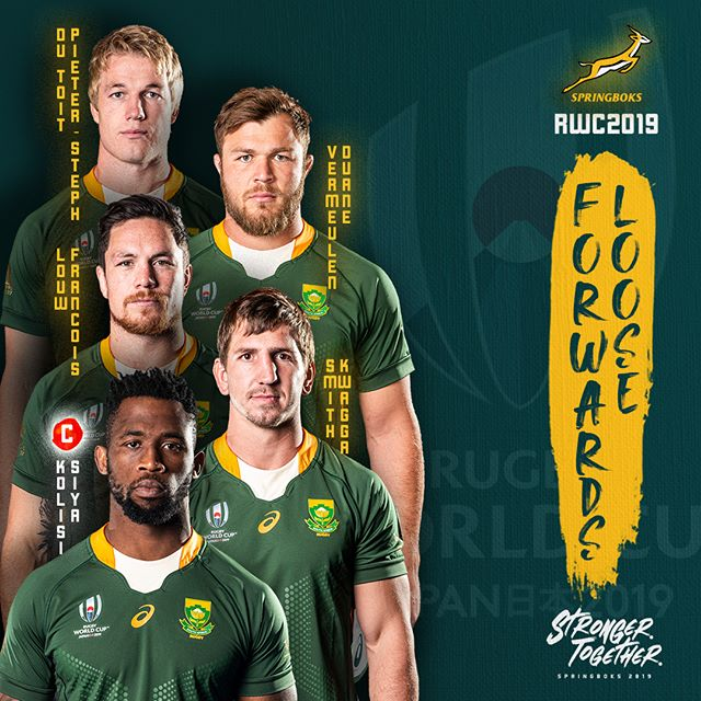 Springbok World Cup Squad Announced Are You Ready South Africa Strongertogether Springbok Rugby Rugby International Rugby