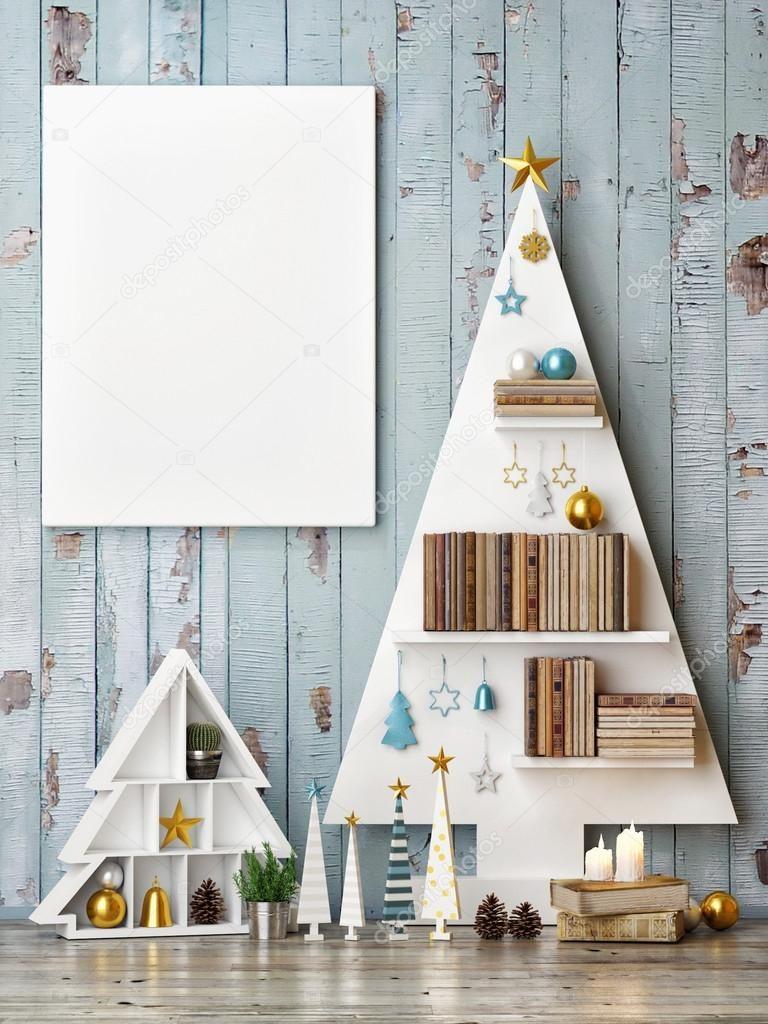Скачать - Макет плаката с абстрактными елки — стоковое ...