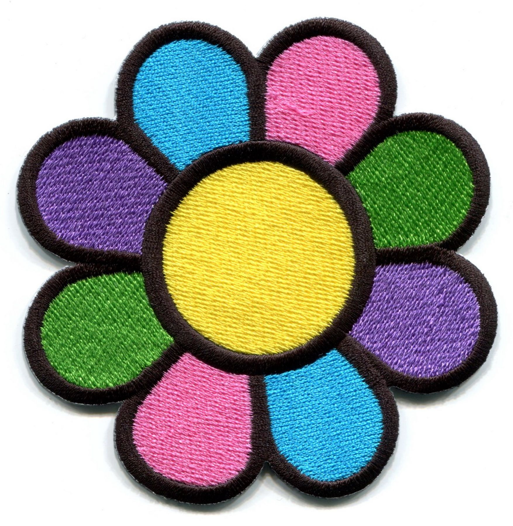 Iron On Applique Flower Power