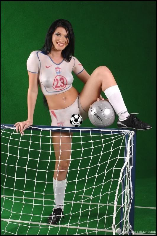 paint Sexy soccer body