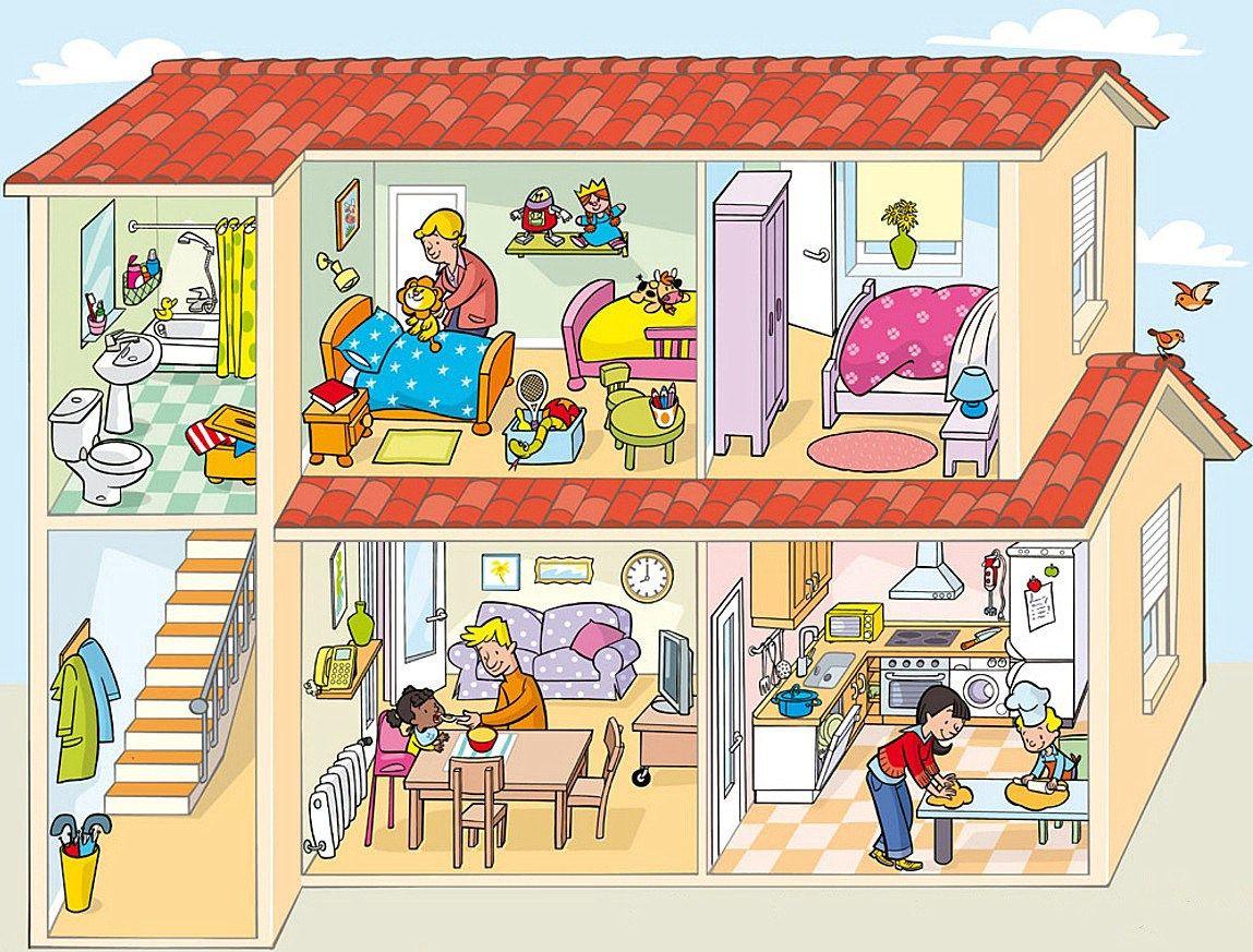 Imagenes Educativas Dependencias De La Casa Educacion Infantil