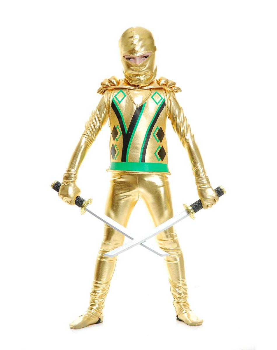 Ninja Avenger Gold Armor Boys Costume – Spirit Halloween ...