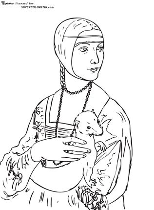 Click To See Printable Version Of Lady With An Ermine By Leonardo