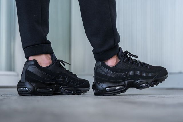 Nike Air Max 95 Triple Black Available Now Sneakers Men Fashion Nike Air Max 95 Stylish Sneakers