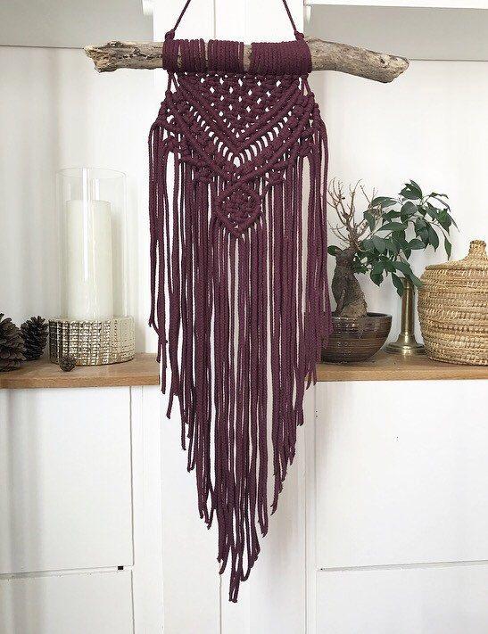 macrame wall hanging wall hanging bordeaux macrame. Black Bedroom Furniture Sets. Home Design Ideas