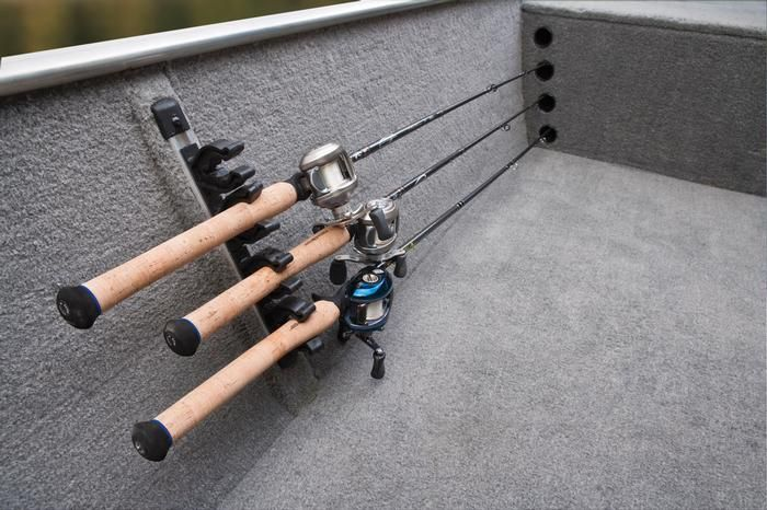 Jon boat rod storage boat rod storage jon boat fishing for Homemade fishing rod storage ideas