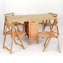 Walmart: Linon Space Saver 5 Piece Dining Set