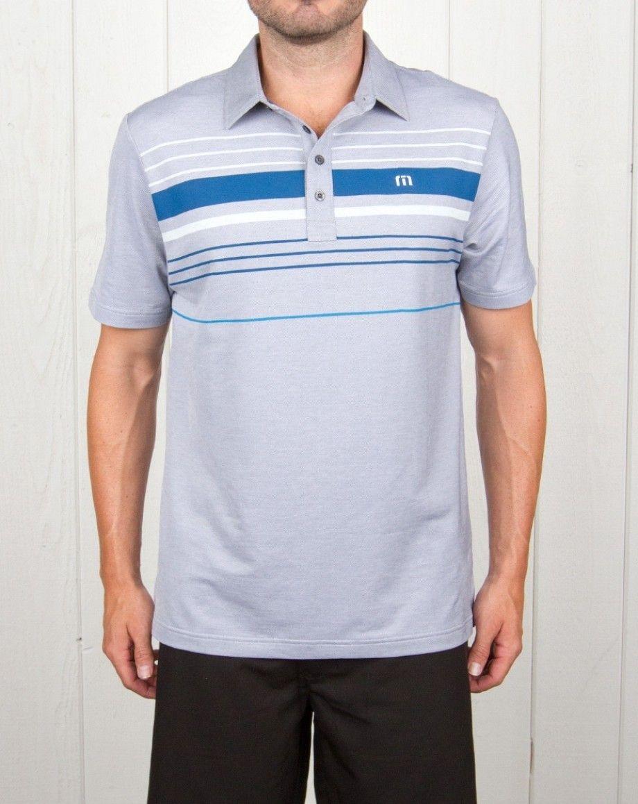 TravisMathew Mens Balboa Polo White - Shirts & Tops