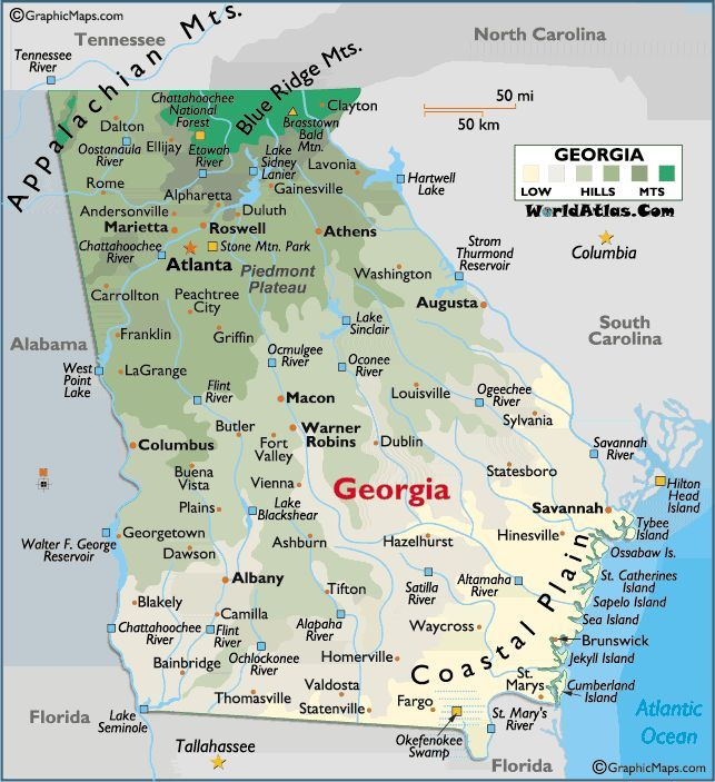 mapofusageorgia MAPS Pinterest Georgia and United states