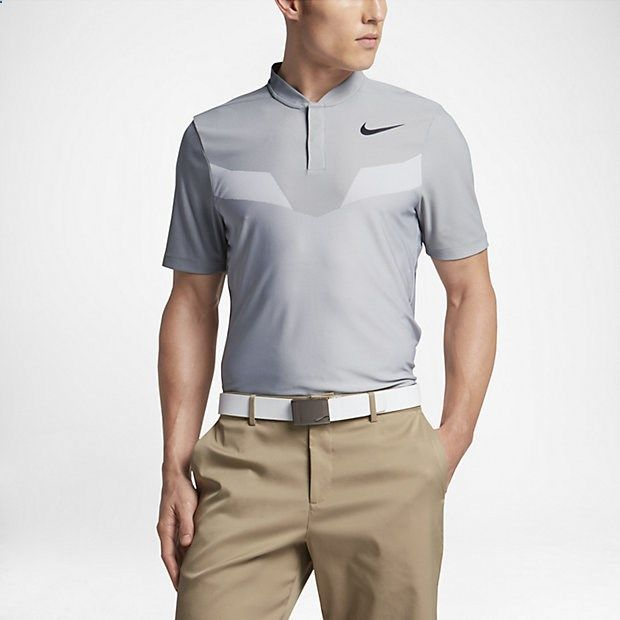 Nike Zonal Cooling MM Fly Blade Men's Standard Fit Golf Polo Shirts Wolf Grey