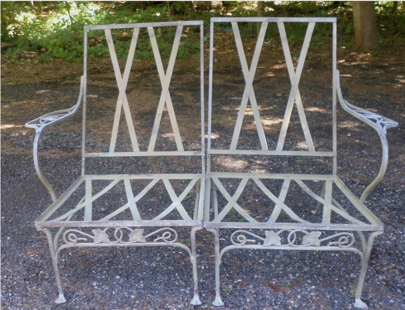 Vintage Salterini Sofa Chairs Settee Wrought Iron MT Vernon Del Area SHIP |  EBay