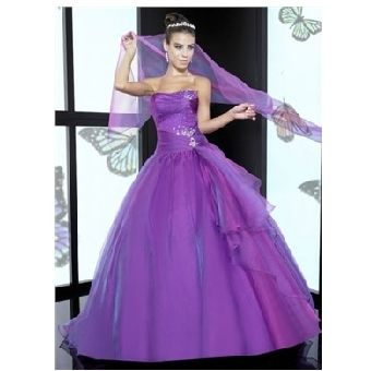 Purple Wedding Gown3 My Original Idea I Was Never Into White