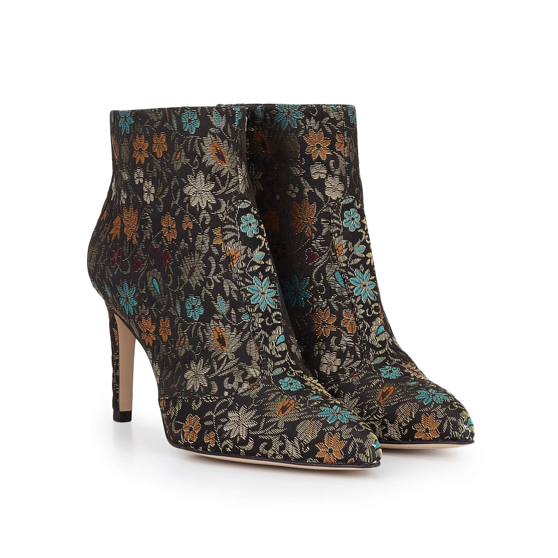 eaa30ef23439cf Olette Pointed Toe Bootie by Sam Edelman - Black Gold Brocade - View 1