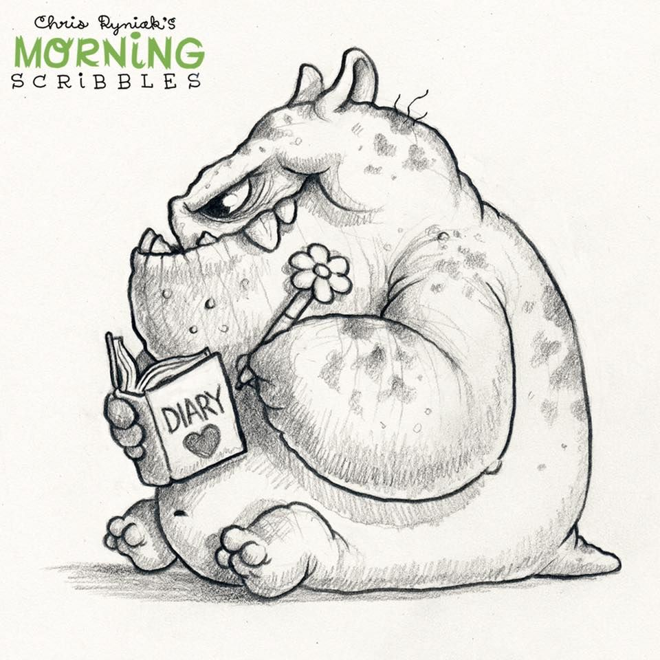 Pin By Eva Gloria Rivera Alonso On The Marvellous Chris Ryniak Cute Monsters Drawings Monster Drawing Cute Sketches