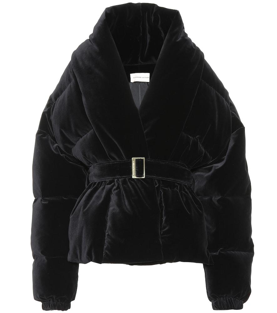 Alexandre Vauthier Oversized Belted Velvet Puffer Jacket In Black Modesens Quilted Velvet Jacket Velvet Jacket Burberry Quilted Jacket [ 1000 x 885 Pixel ]