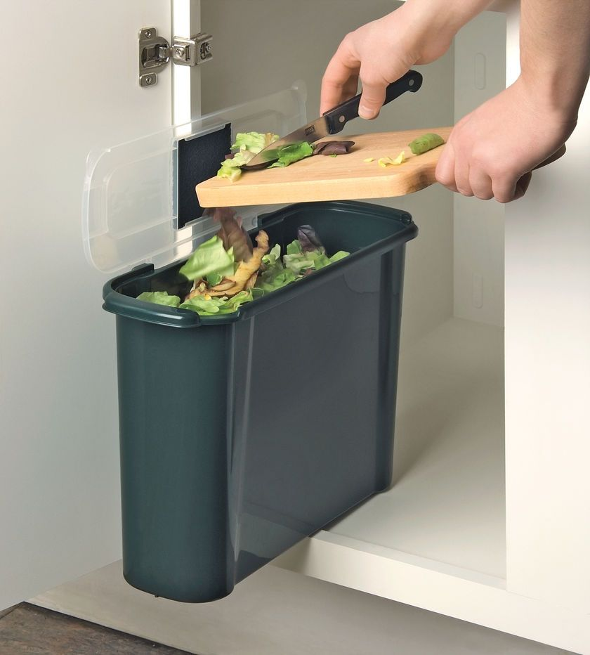 Keep Kitchen Compost Scraps Out Of Sight With This Slim Compost Pail That  Tucks Into A Narrow Space In A Cabinet Or Under The Sink.