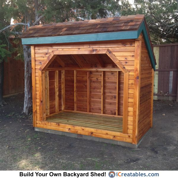 1 Cord Firewood Shed Myoutdoorplans Free Woodworking Plans And Projects Diy Shed Wooden Playhouse Pergola Firewood Shed Building A Wood Shed Wood Shed