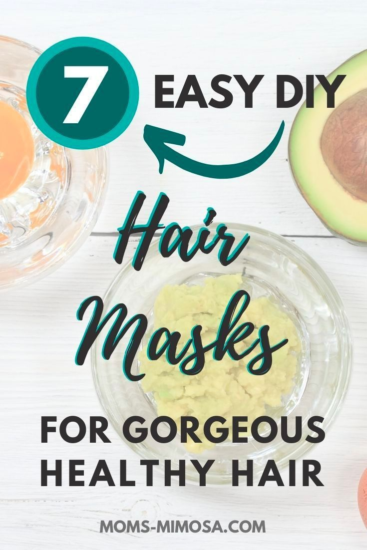 Get Gorgeous Healthy Hair With These DIY Hair Masks #naturalhaircareproducts