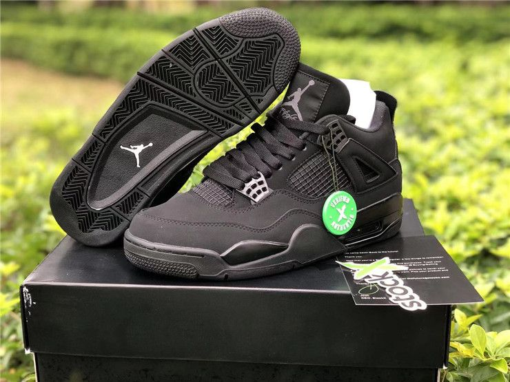 2020 New Air Jordan 4 Retro Black Cat For Sale In 2020 Air Jordans Jordan 4 Black Sneakers Men