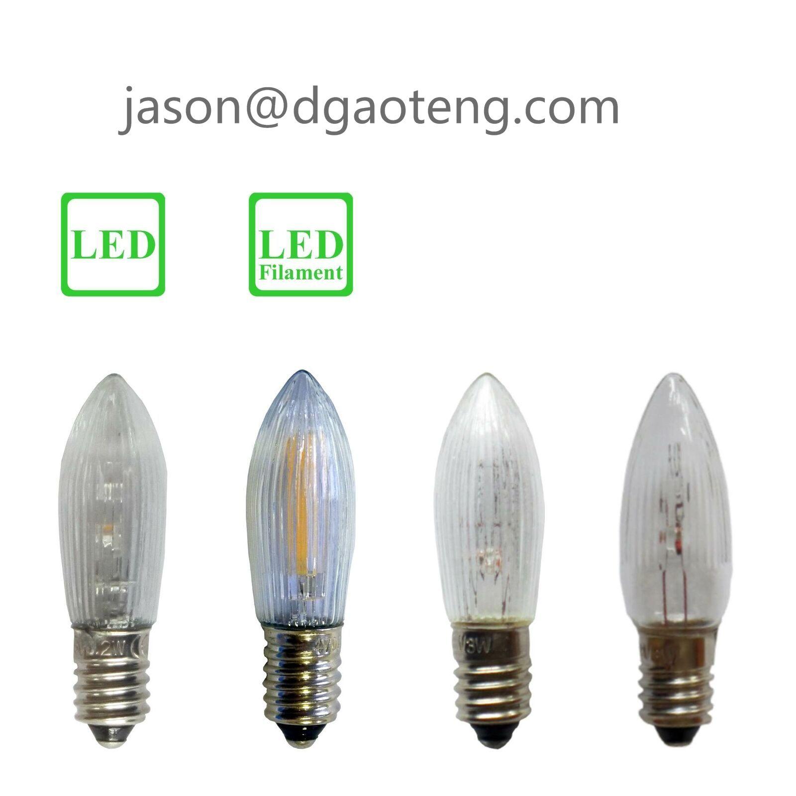 E10 C6 Christmas replacement bulb 12V3W,16V3W,23V3W,34V3W