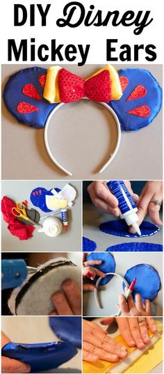 DIY Easy No Sew Disney Mickey Ears- This tutorial is super easy to follow!