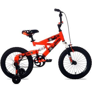 Walmart 16 Jeep X16 Boys Full Suspension Bike Orange