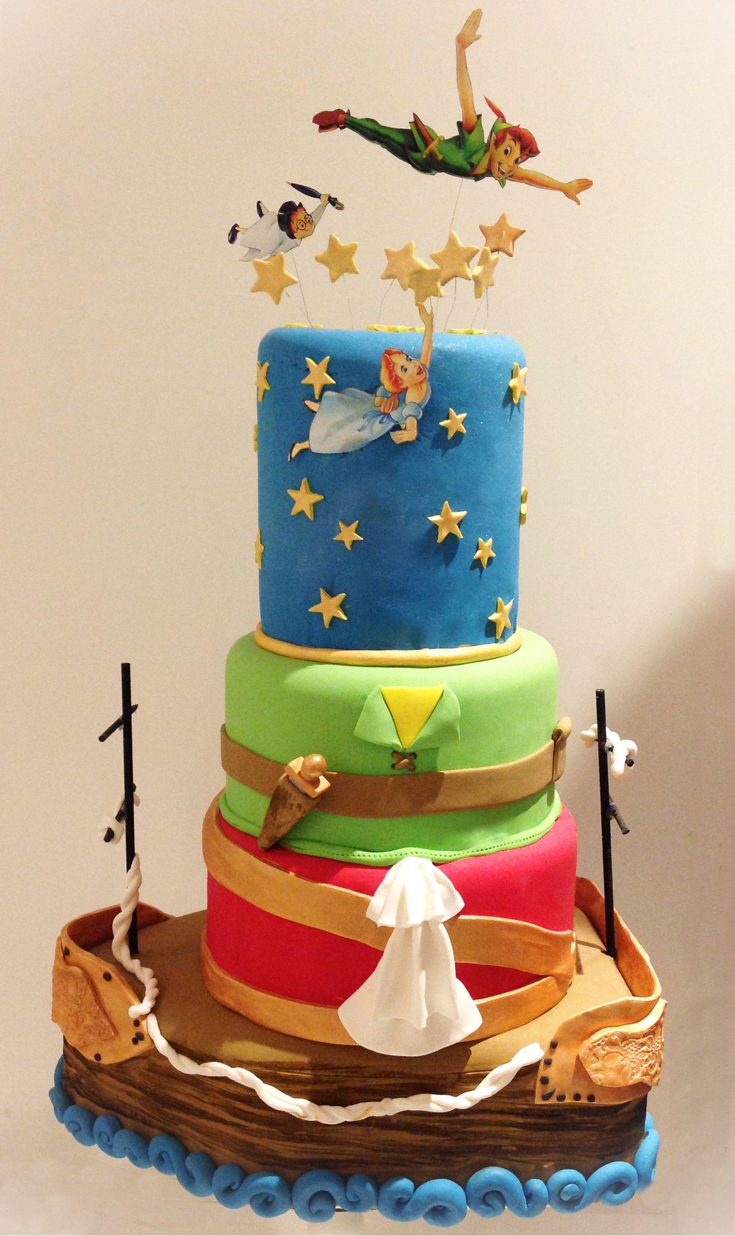 Swell Peter Pan Birthday Cake Peter Pan Cakes Peter Pan Disney Peter Personalised Birthday Cards Paralily Jamesorg