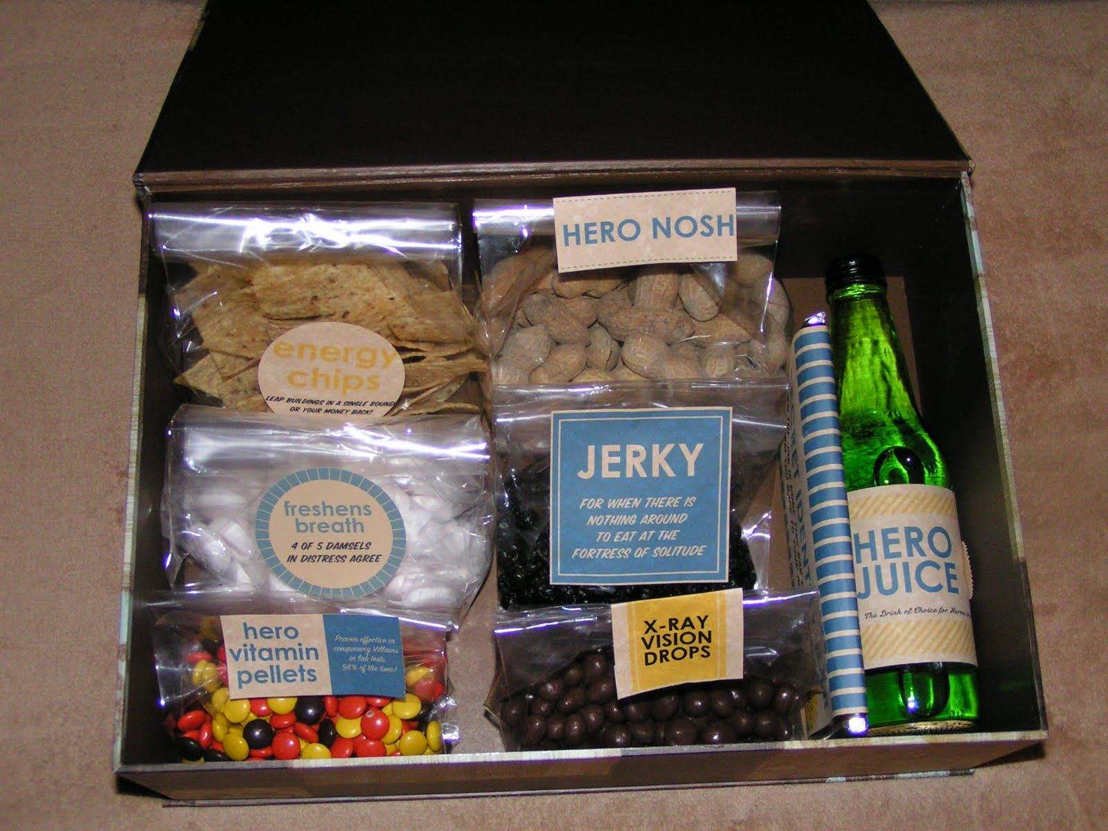"""Father's Day """"Superhero Care Package"""" Superhero gifts"""