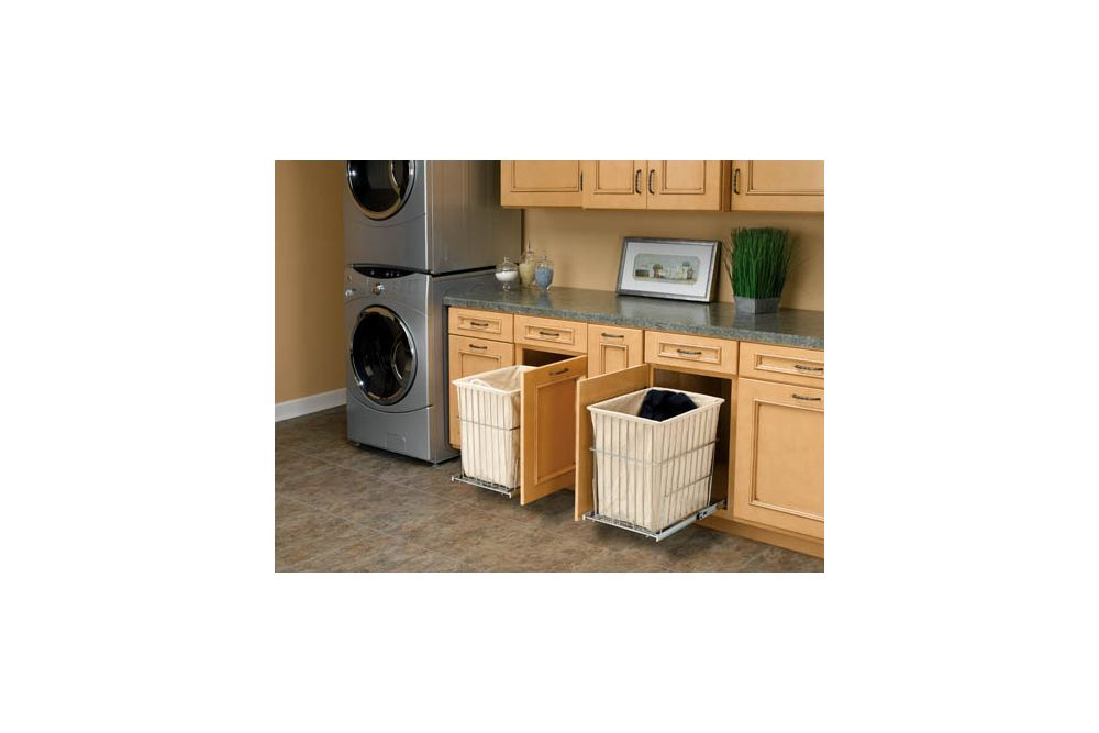 Pull Out Laundry Baskets Keep Laundry Out Of Sight: Exquisite Cabinets Hide  Pull Out, Canvas Lined Laundry Baskets That Make Sorting Laundry A Simple  Task.