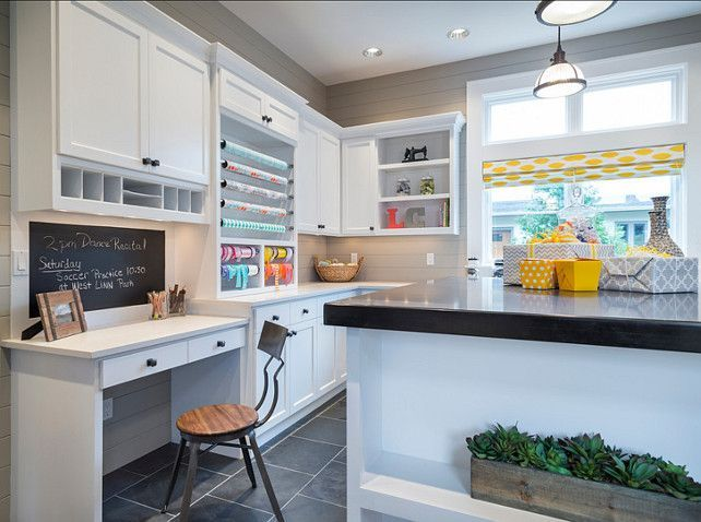 Home Office Craft Room. Craft Room Ideas. The Countertops In This Are  Caesarstone Quartz
