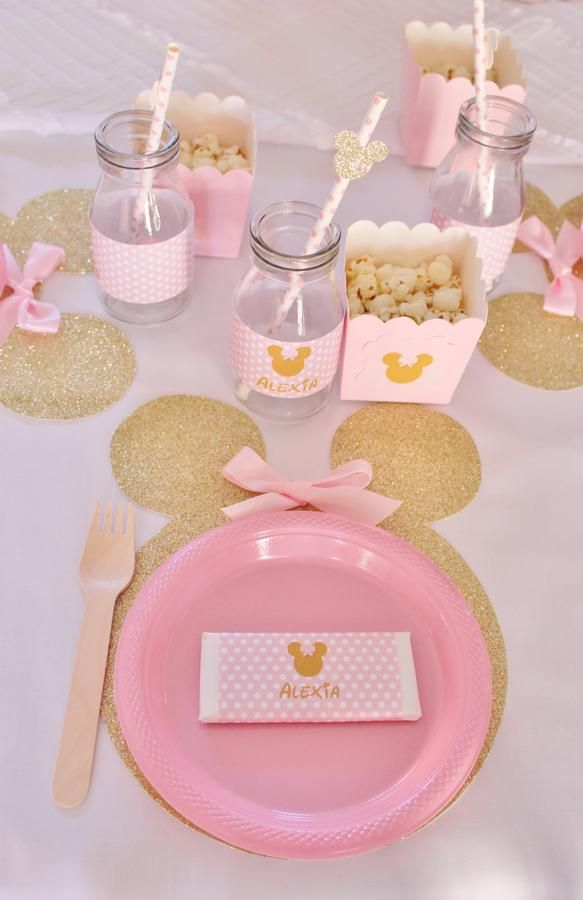 Pink and Gold Minnie Mouse Party Party Ideas Pinterest