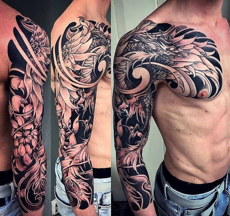 Phoenix Japanese Style Tattoo Amsterdam Tattoo1825 Kimihito Amsterdam Tattoo Phoenix Tattoo Sleeve Tattoos