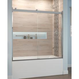 Basco Rotolo 60 0 In W X 57 0 In H Silver Bathtub Door Rtla05b6057clsv Bathtub Doors Shower Doors Frameless Shower Doors