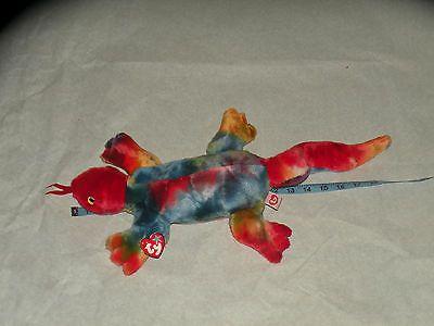 263f782ea70 Lizzy Ty Beanie baby 1999 Tie Dye Red