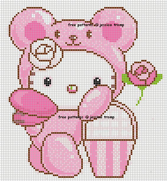 Hello Kitty Cross Stitch Chart