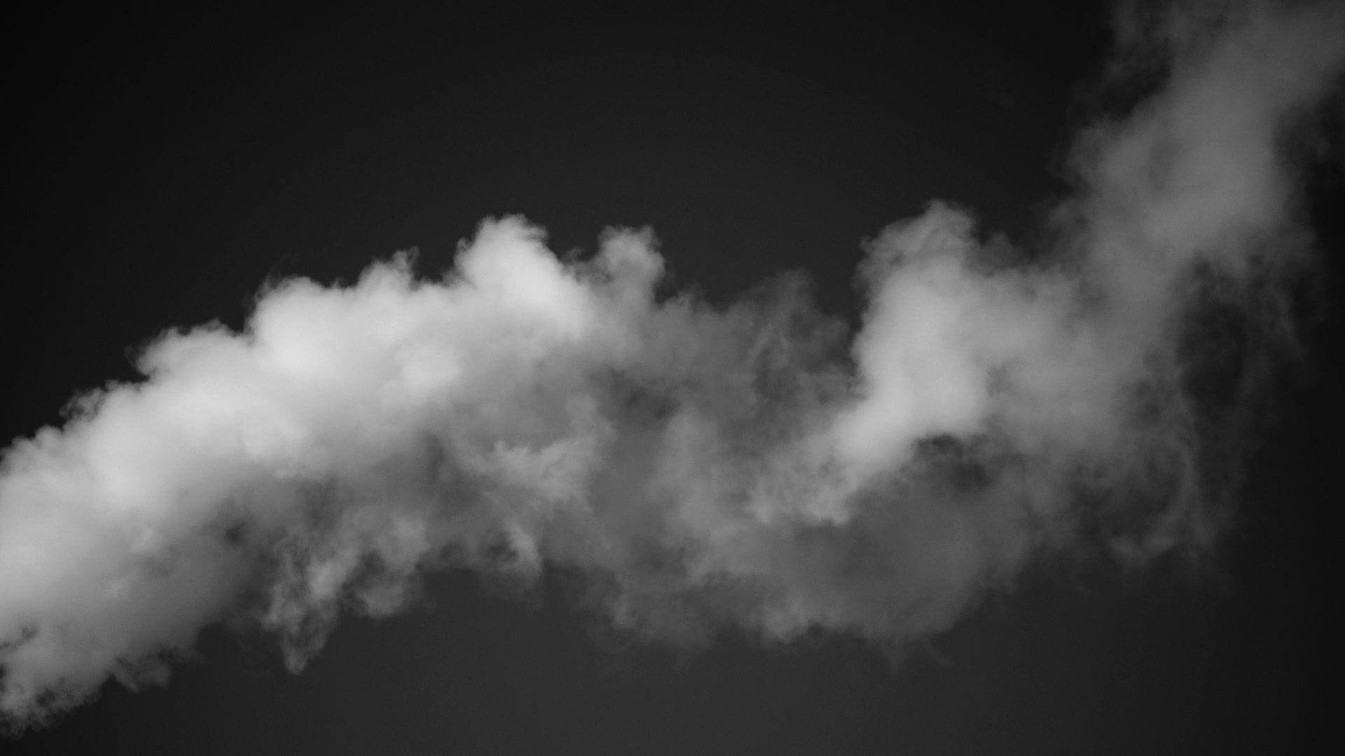 White Smoke And Dark Sky Background Stock Footage Dark Smoke